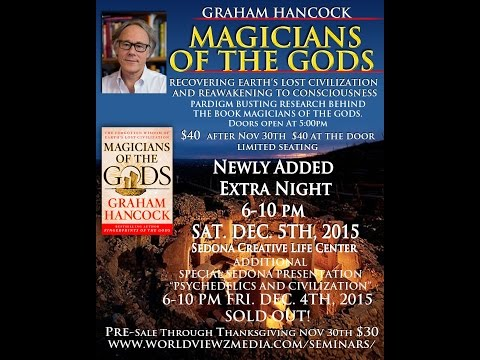 "Martin Gray Speaks on Graham Hancock ""Magicians of the Gods"" in Sedona 6-10pm Sat Dec 5th, 2015"