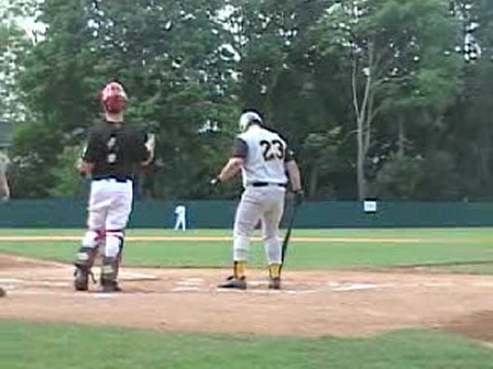 Justin Contursi At Bat At Double Day Field Cooperstown, N.Y.