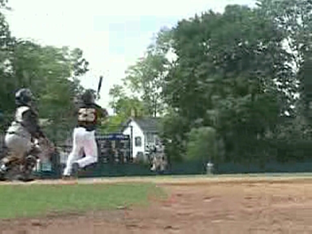 Justin Contursi Catching A Pop-Pop  At Double Day Field Cooperstown, N.Y.