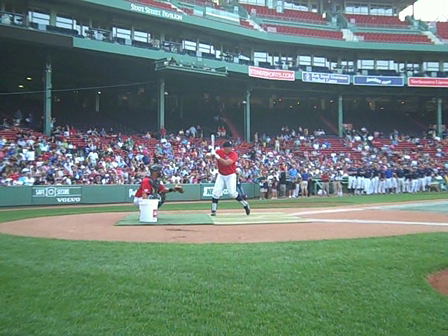 Taylor Ard (Mt. Hood Community College) Brewster Whitecaps- Cape Cod League Home Run Derby, 2010. Fenway Park, Boston, MA.