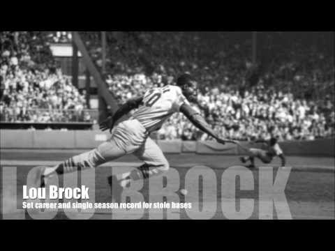 Lou Brock and Hoyt Wilhelm enter the Hall of Fame 1985