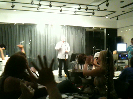 Michael Hjerth sings!  My Way karaoke, J-SOL 3 cabaret