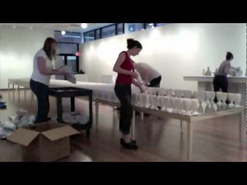 Convivium Art Exhibit Installation Time Lapse at Genesee Community College