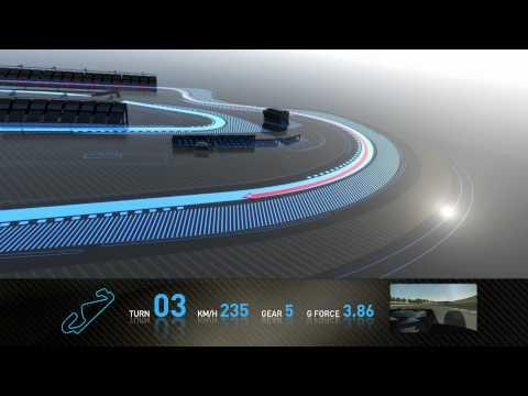 F1 Track Simulator  Mark Webber at Barcelona