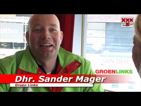 www.amstel1.tv - Sander Mager lijsttrekker Groen Links