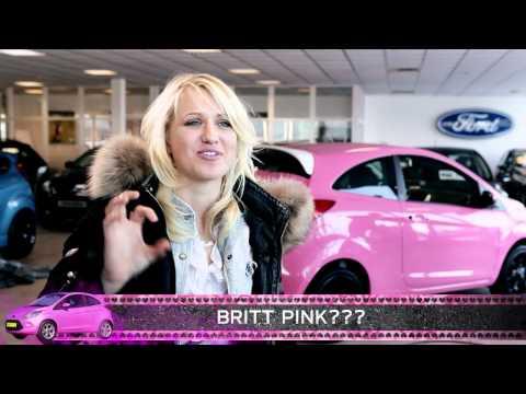 Briit krijgt haar roze Ford Ka