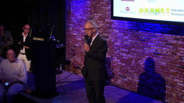 Derk Sauer spreekt voor NME7