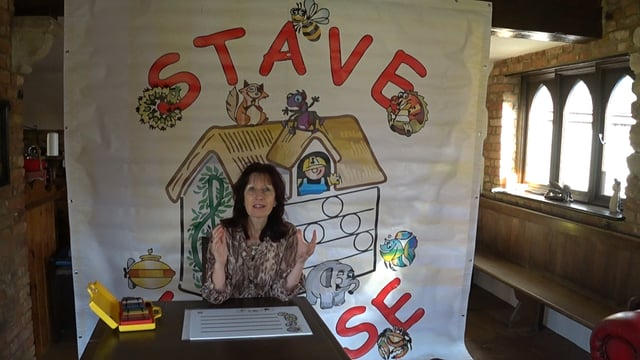 Stave House Music reading for children