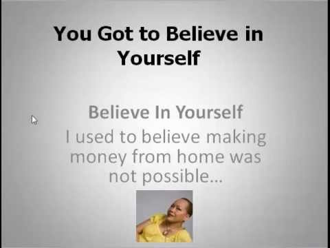 You Got to Believe In Yourself...Self Esteem
