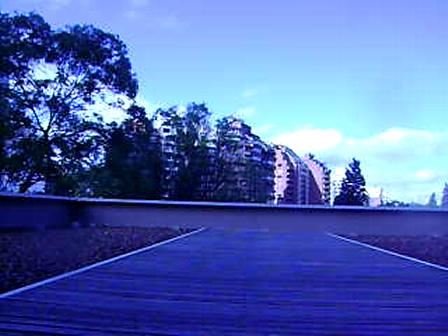 en la terraza
