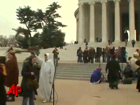 Raw Video- Witches Sweep D.C. for Obama