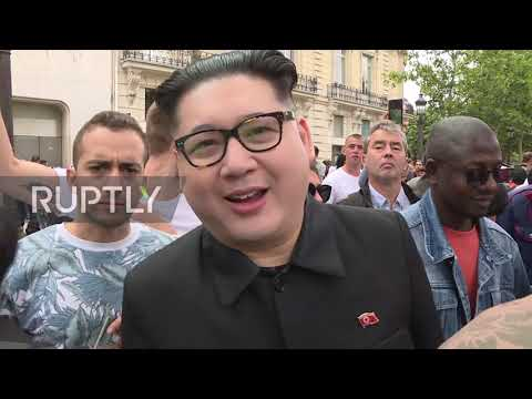 'Kim Jong-un' turns up at Paris' Bastille Day military parade