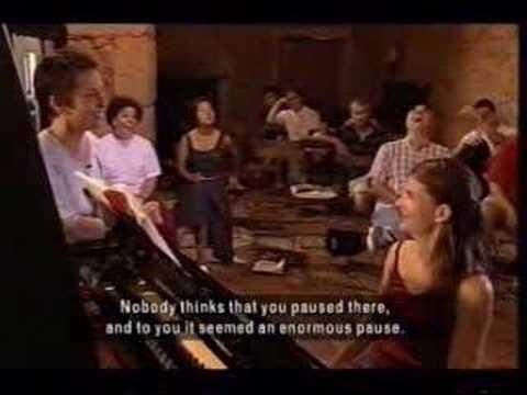 Maria Joao Pires gives piano masterclass