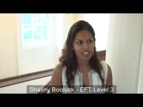 Shalini Booluck Hallewell clears panic with EFT and uses it in her daily life