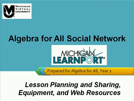 Summer Video 3: Lesson Planning and Sharing, Equipment, and Web Resources