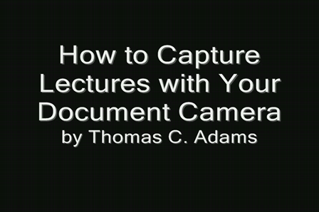 Lecture Recording Tutorial