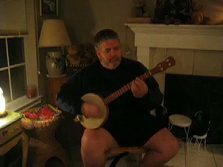 Hubby playing the Banjo-jo