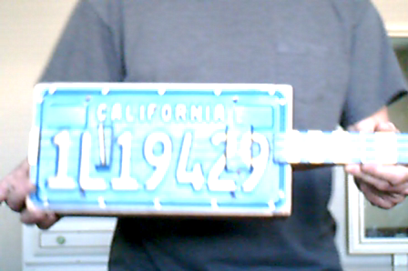 license plate build