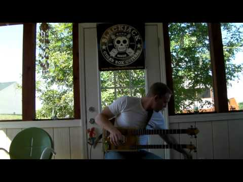Double Neck Cigar Box Guitar for Devon Allman.MP4