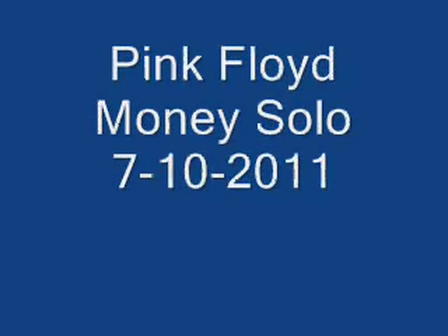 Pink Floyd Money Solo