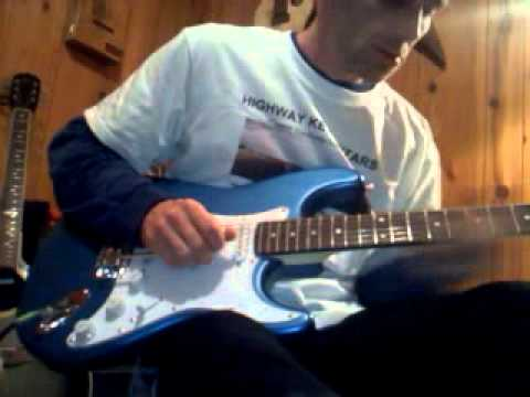 "Highway Key Guitars. ""Sleepwalk"" on the blue strat"