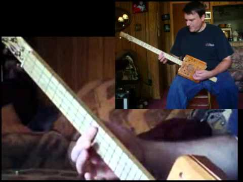 """Journey to the Stars"" 3 string Cigar Box Guitar surf music cover with flanger effect"