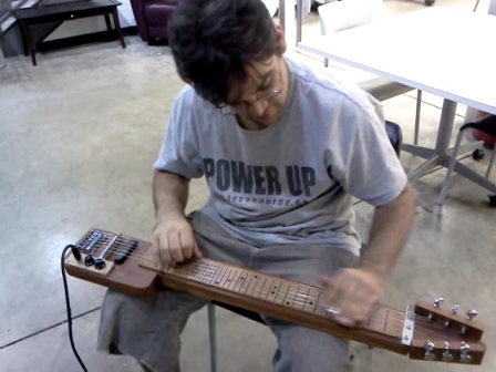 Mike Playing My No.2 Lap Steel-+