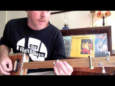 How to play Wild Thing on a 3 String Cigar Box Guitar