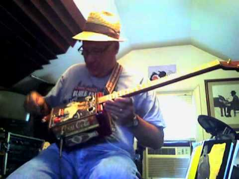 Beverly Hillbillies Theme song on a 3 string can guitar
