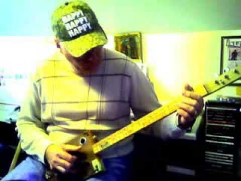 Silent Night on a 3 string cigar box guitar, dedicated to Phil Robertson
