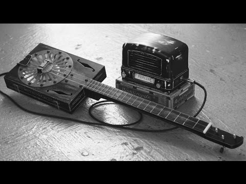 1946 Airline Homemade Guitar Amp made from old radio Retro Cigar Box Guitar Amplifier