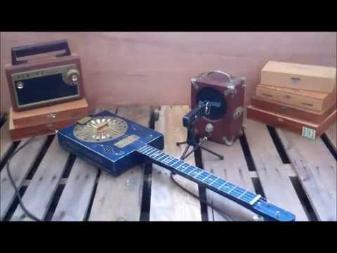 Electric Resonator Guitar ~1917 Radiola~ Cigar Box Guitar