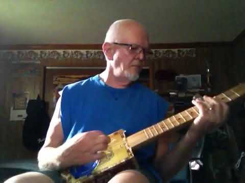 3 string cigar box guitar blues in GDF tuning