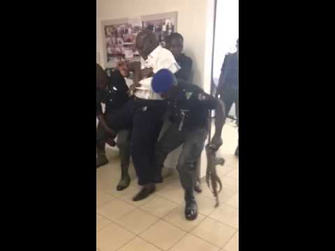 Policemen mangle Bash Ali after attempting to see the Minister of Sports
