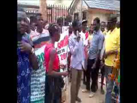 JAMB: Students Protest at New Telegraph Office
