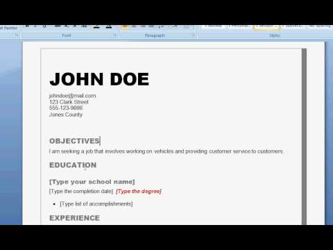 How to Write a Good Resume | Resume Writing