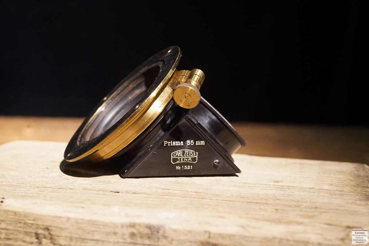 Carl Zeiss Jena, 35mm zenith prism  for refractors, brass