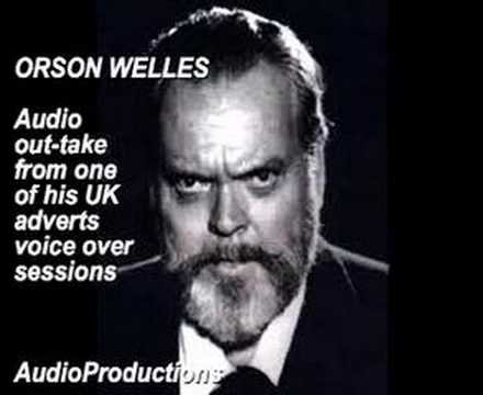 ORSON WELLES Complaining about bad copy during a commercial