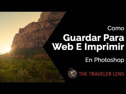 Como guardar para web y para imprimir, en Photoshop