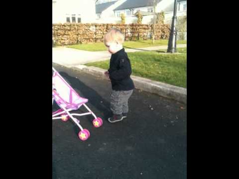 Louis with clubfoot walking Talipes Together