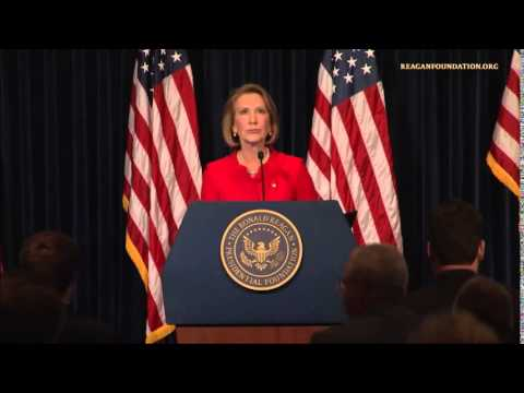 Carly's speech at The Reagan Library