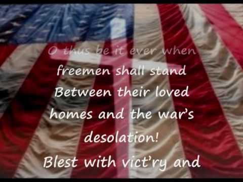 The Star Spangled Banner with lyrics 4th Verse Included