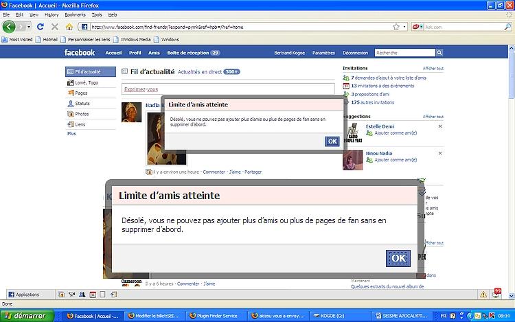 limite requêtes d'amitié sur facebook