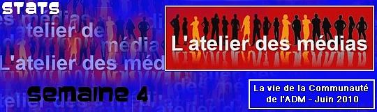 statistiques des nouveaux membres de l'ADM semaine 4 de juin 2010