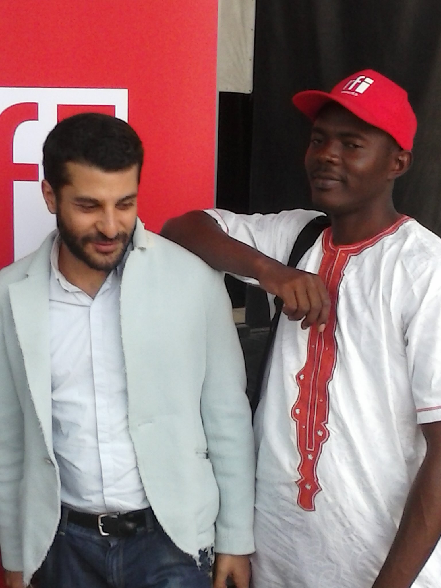 Fofana et Ziad Maalouf (Atelier des médias RFI)