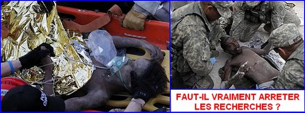 rescapes apres le seisme d'haiti