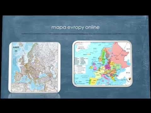 Evropa Cestování Recenze S Mapou