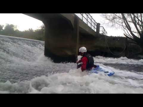Simon at Nafford Weir