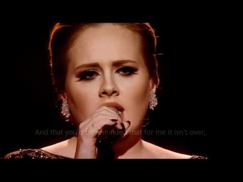 Adele - Someone like you (OFFICIAL VIDEO LYRICS) HD Live from Brit Awards 2011