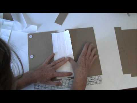 How to make a journal year book tutorial with A Ladies Diary part 1 - book binding